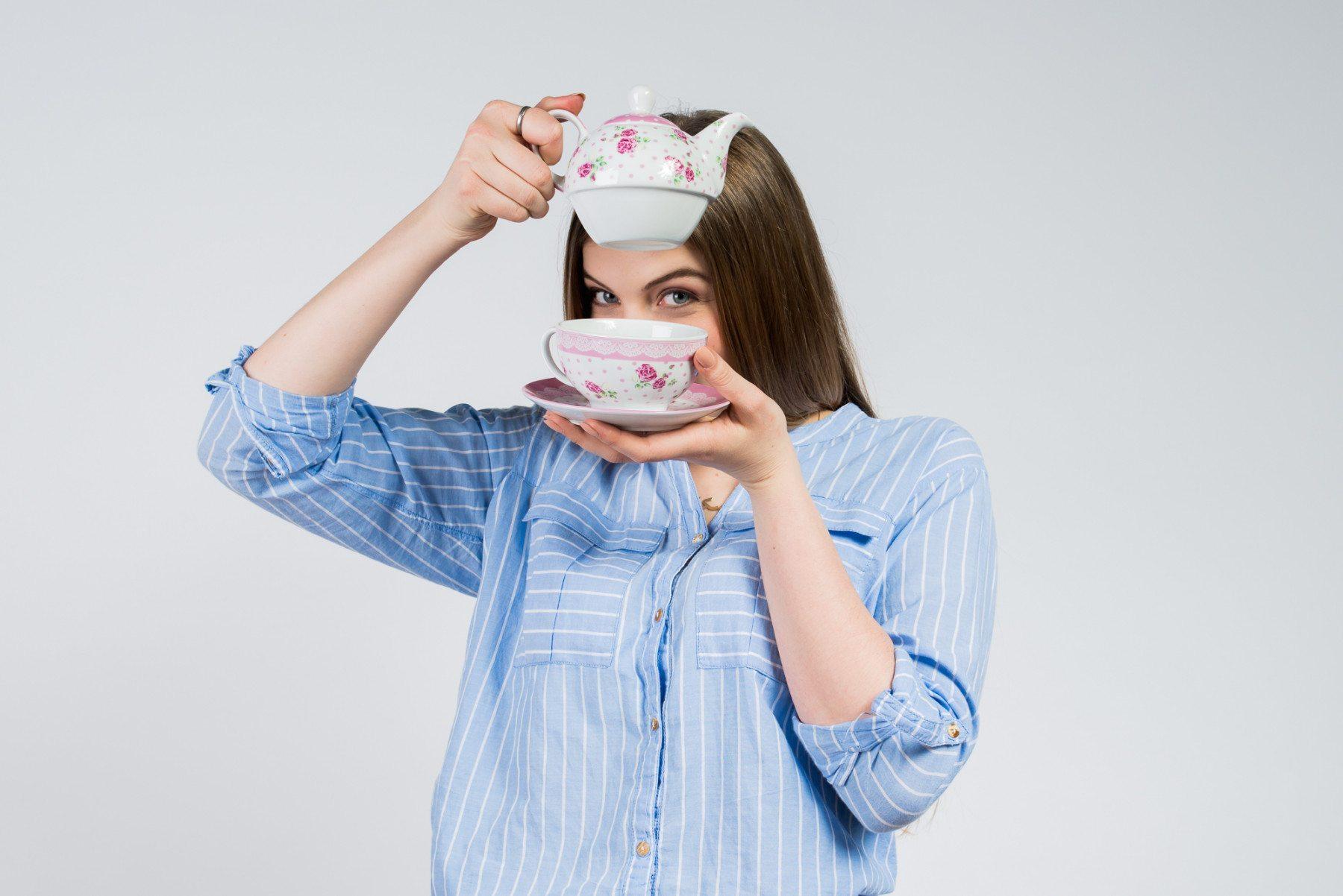 """Tea for one: Teekanne mit Tasse """"Rosen"""" Emma"""