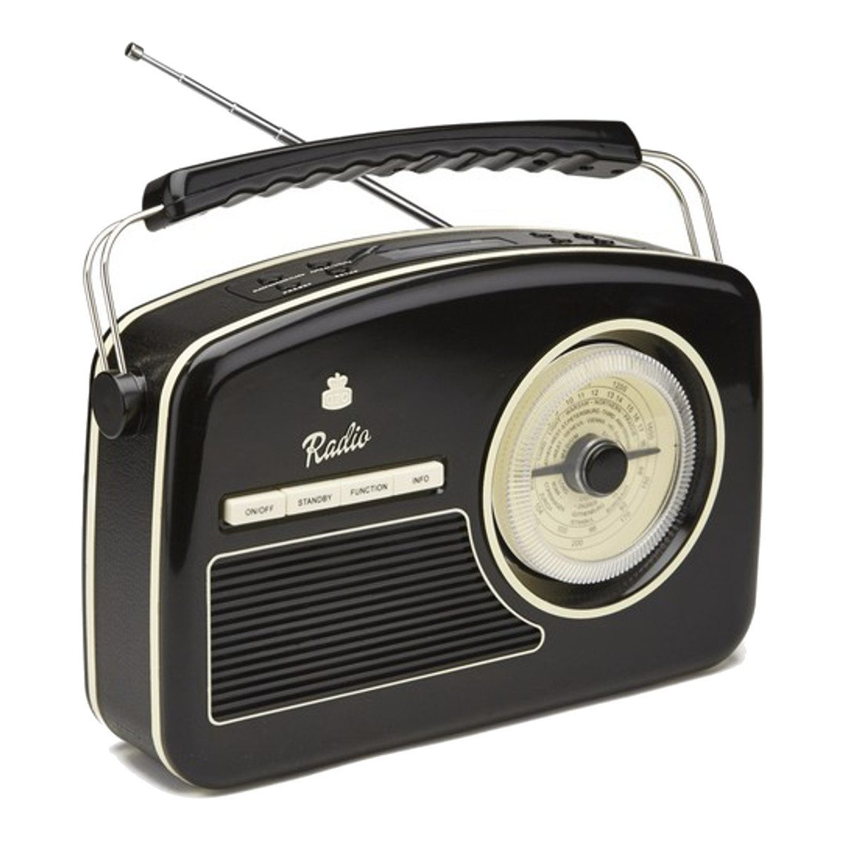 Trendy 50's DAB + Radio Schwarz