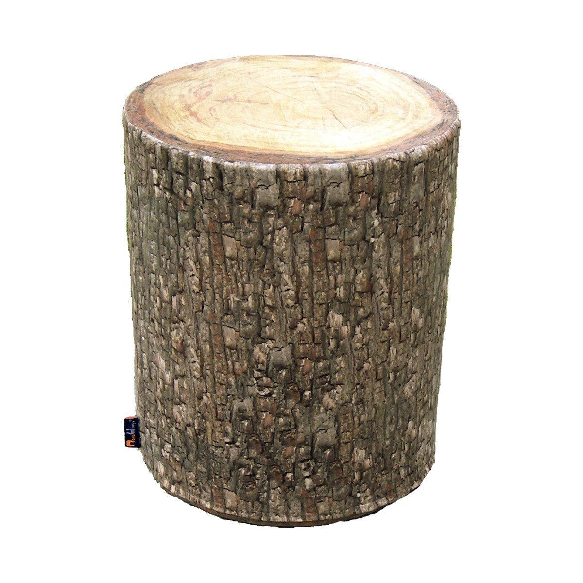 Udendørstaburet formet som en træstamme