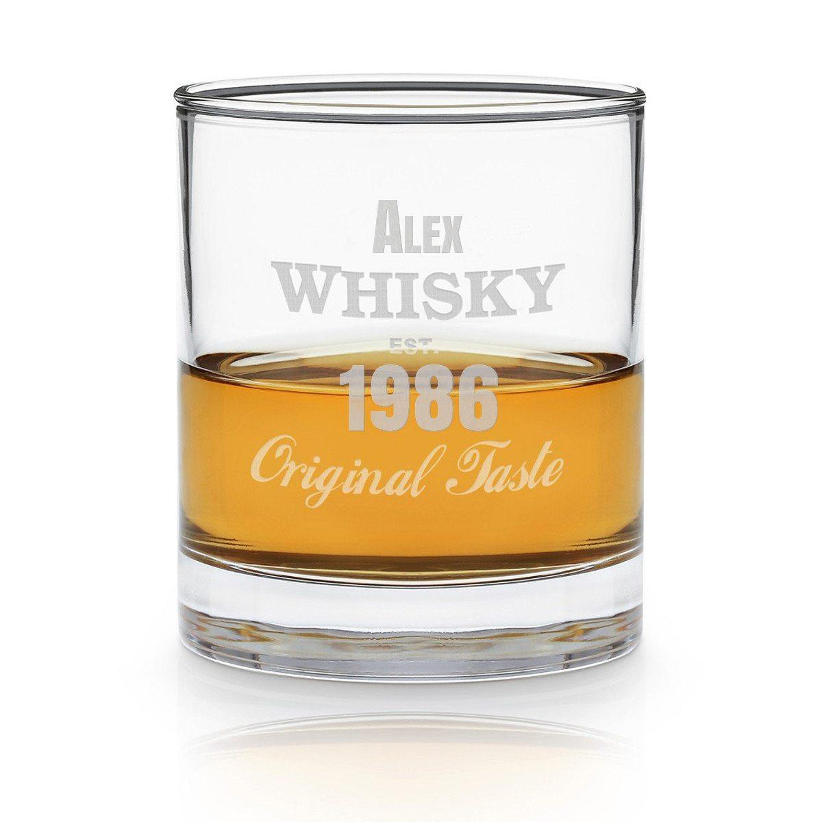 Whiskyglas med indgravering