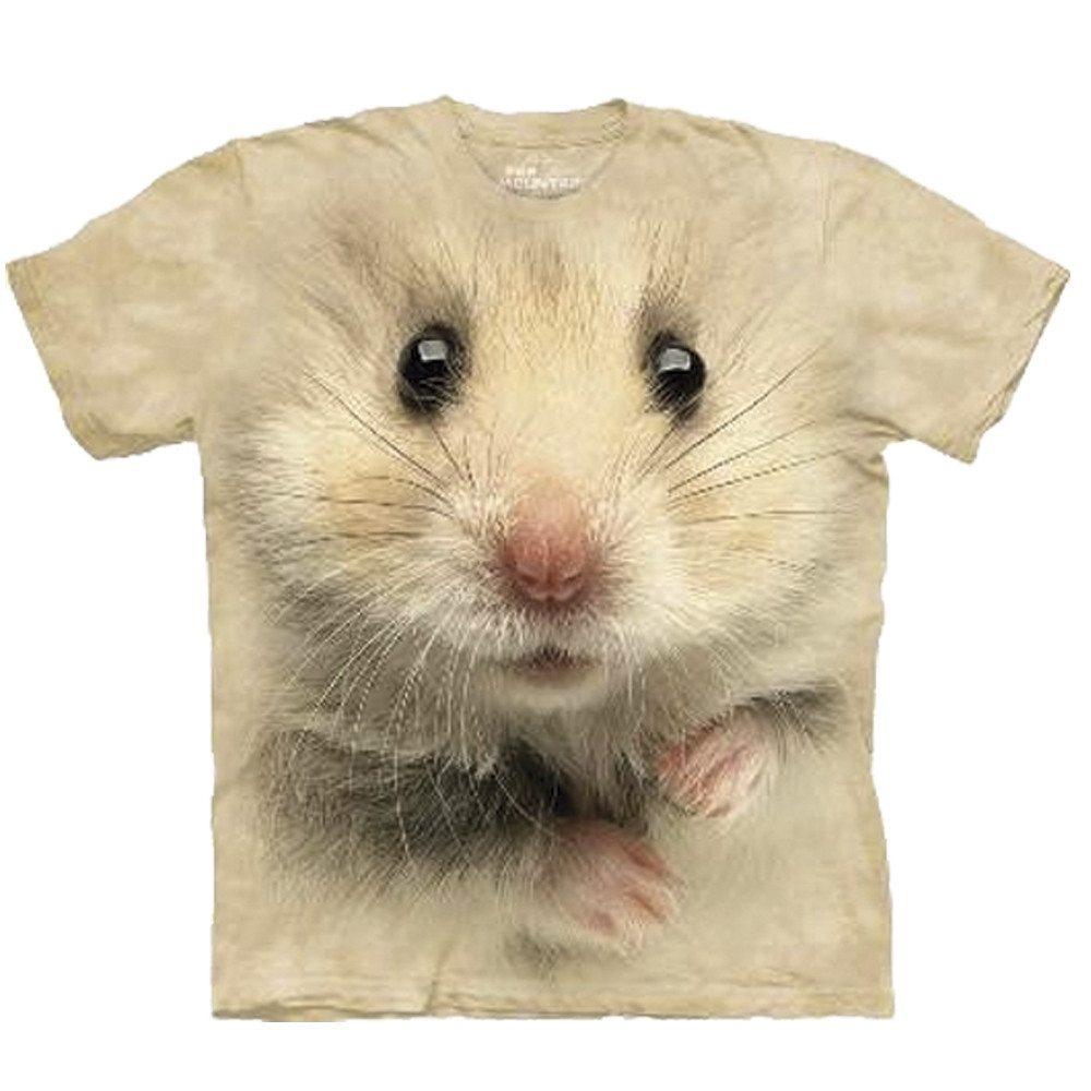 Big Face T-shirt med hamstertryk