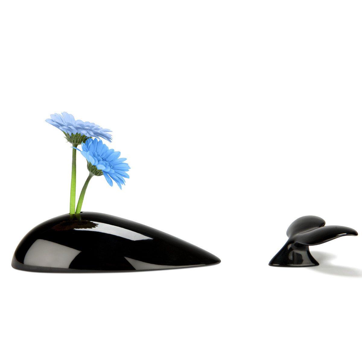 Blomstervase formet som en hval