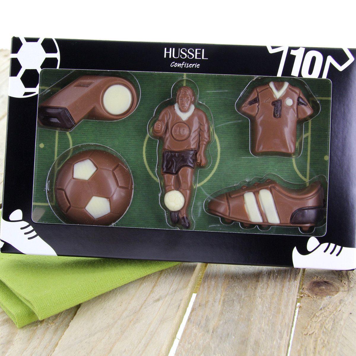 Chokoladesæt med fodboldtema fra Hussel