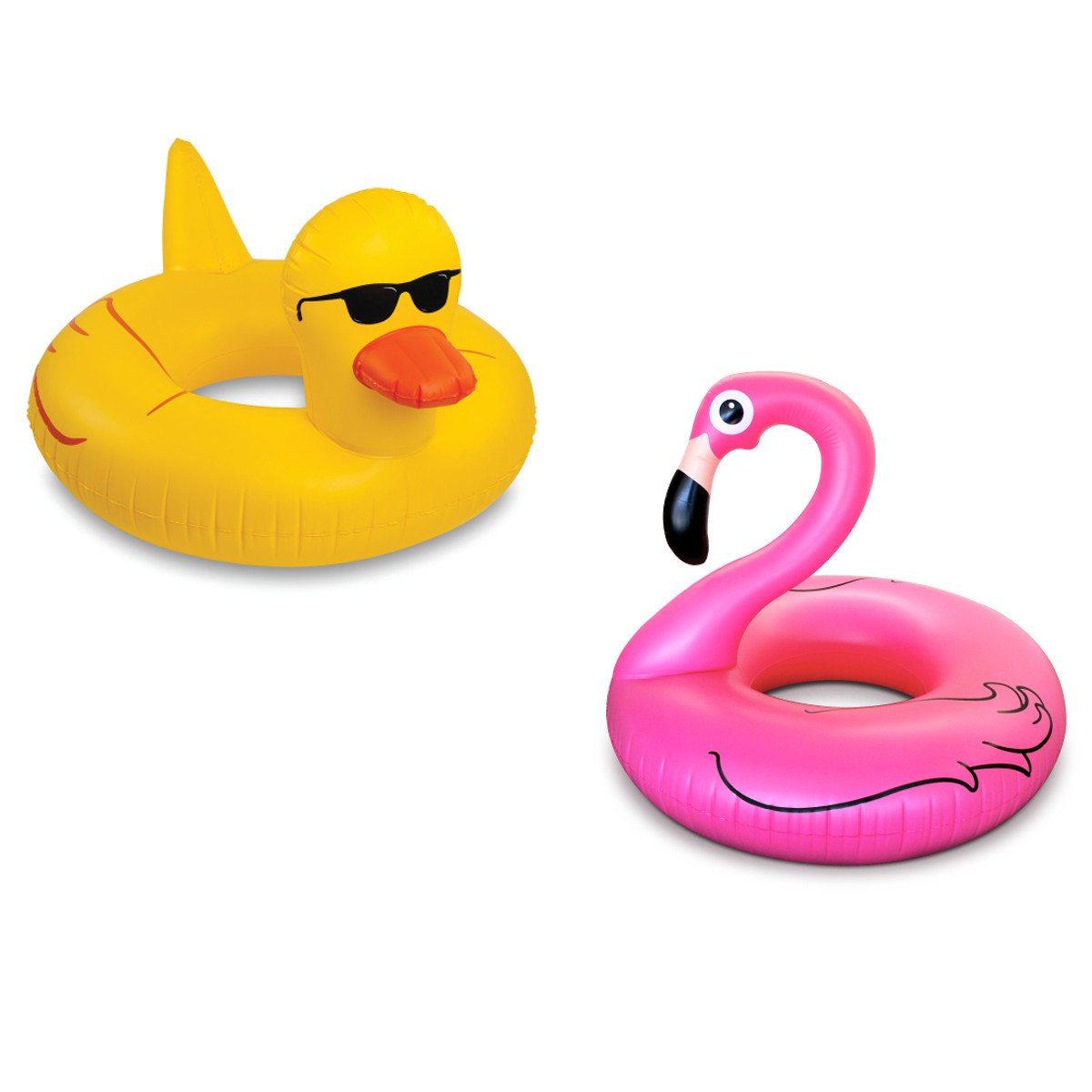 Flamingo- eller andeformet badering