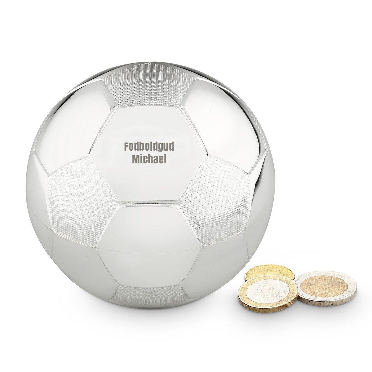 Fodboldformet sparekrukke med indgravering
