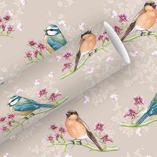 Gavepapir med fugle