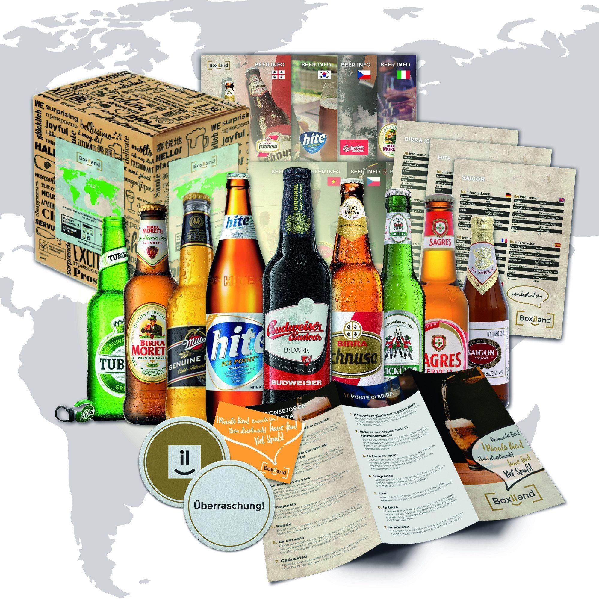 Gavesæt med øl fra hele verden