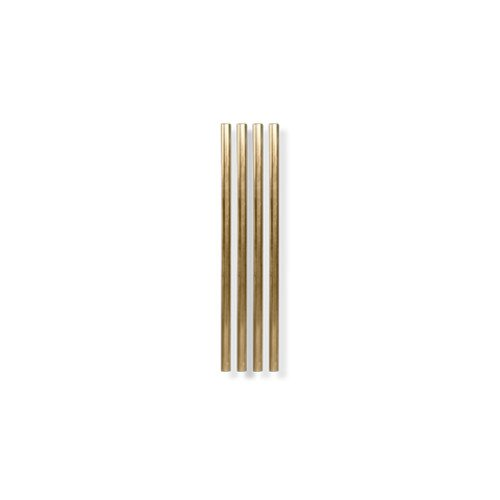 Goldene Strohhalme (4er-Set) - diagonal