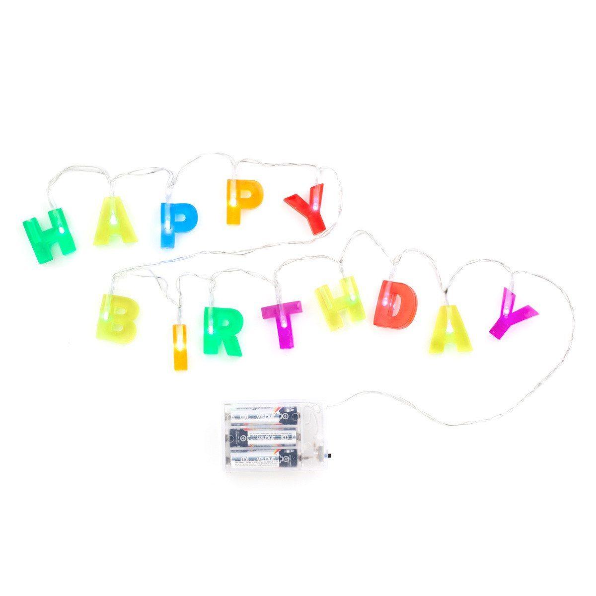 Happy Birthday-lyskæde