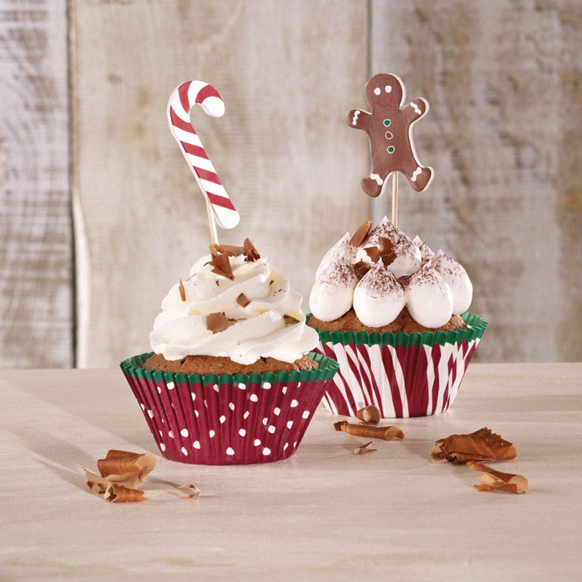 Juledekoration til cupcakes