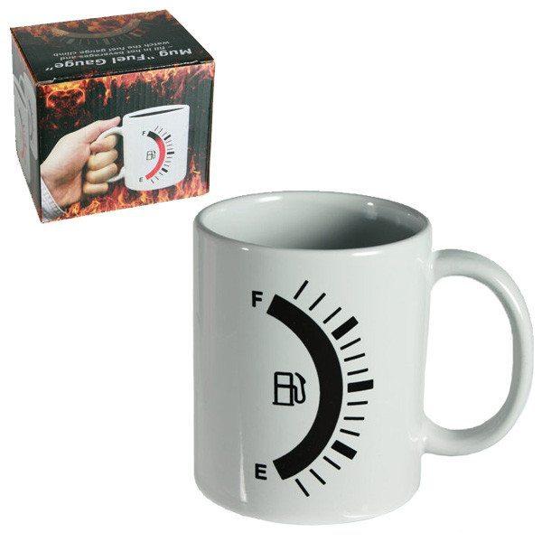 Kaffekrus med benzintanksindikator