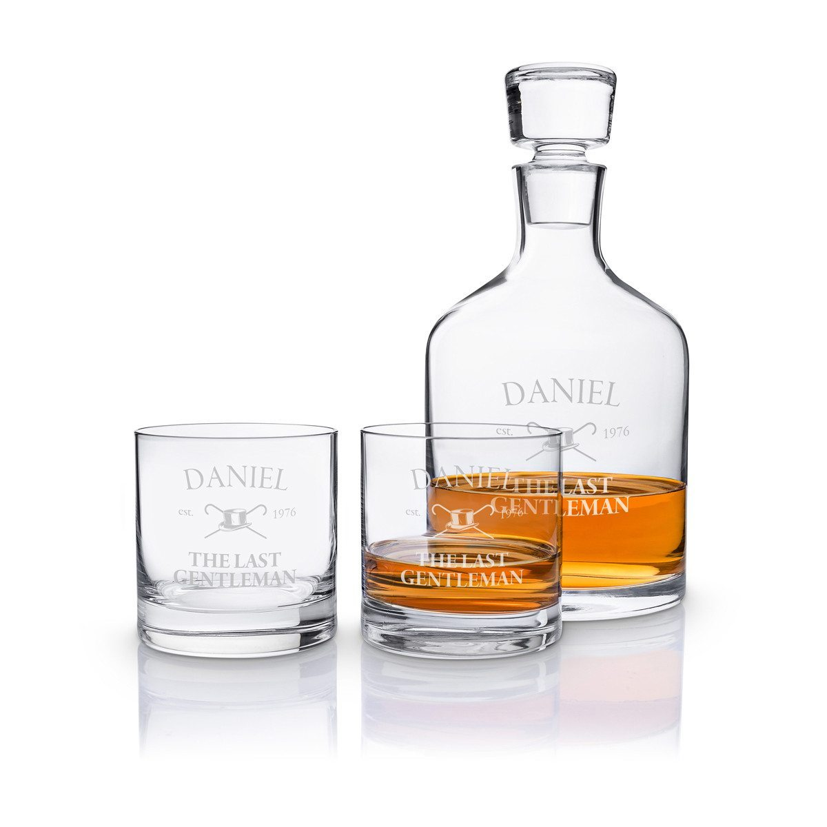 Leonardo - whiskysæt med indgravering