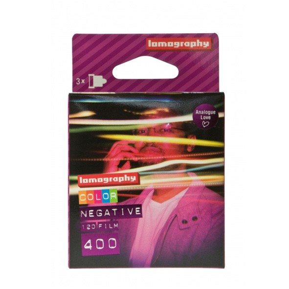 Lomography 120 farvenegativfilm ISO 400 - 3-pak