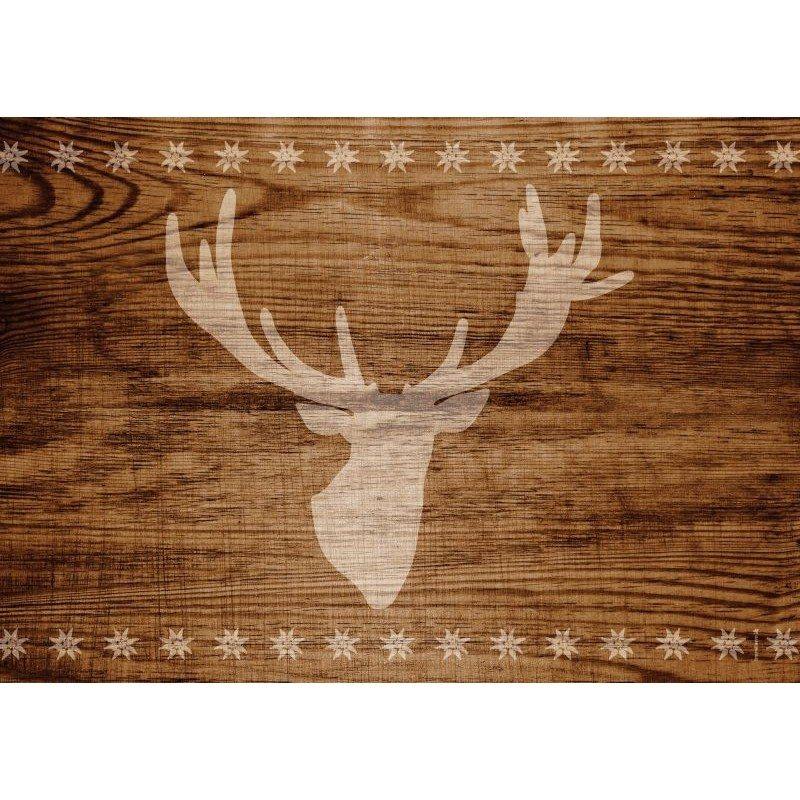 Papir-bordskånere med hjortemotiv