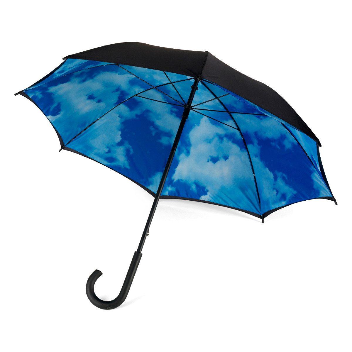 Paraply med blå himmel-motiv