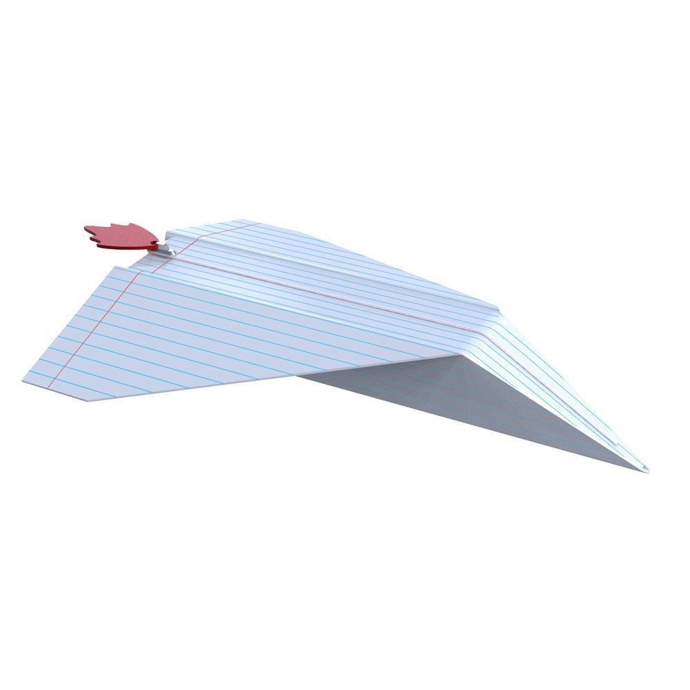 Penalhus formet som papirfly eller -båd