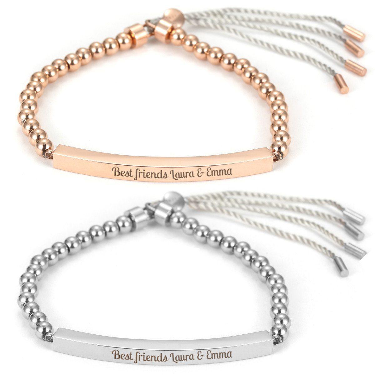 Pleasure - feminint armbånd med navn