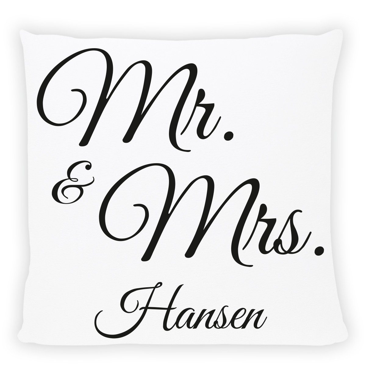"""Pude med personligt """"Mr. & Mrs.""""-tryk"""