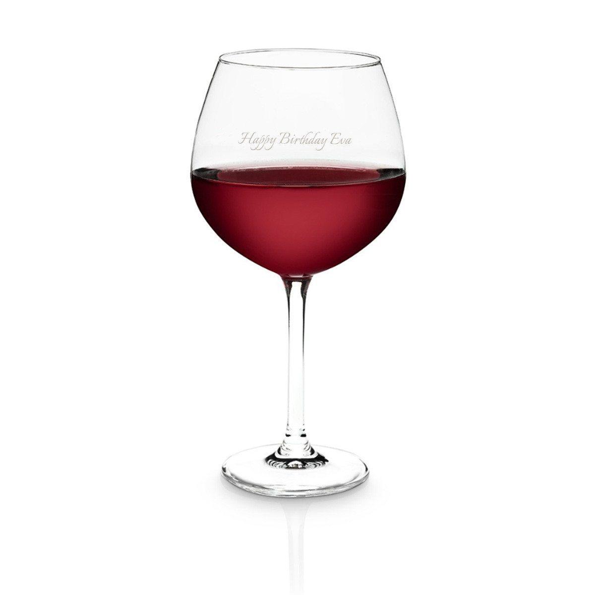 Rødvinsglas med indgravering fra Schott Zwiesel
