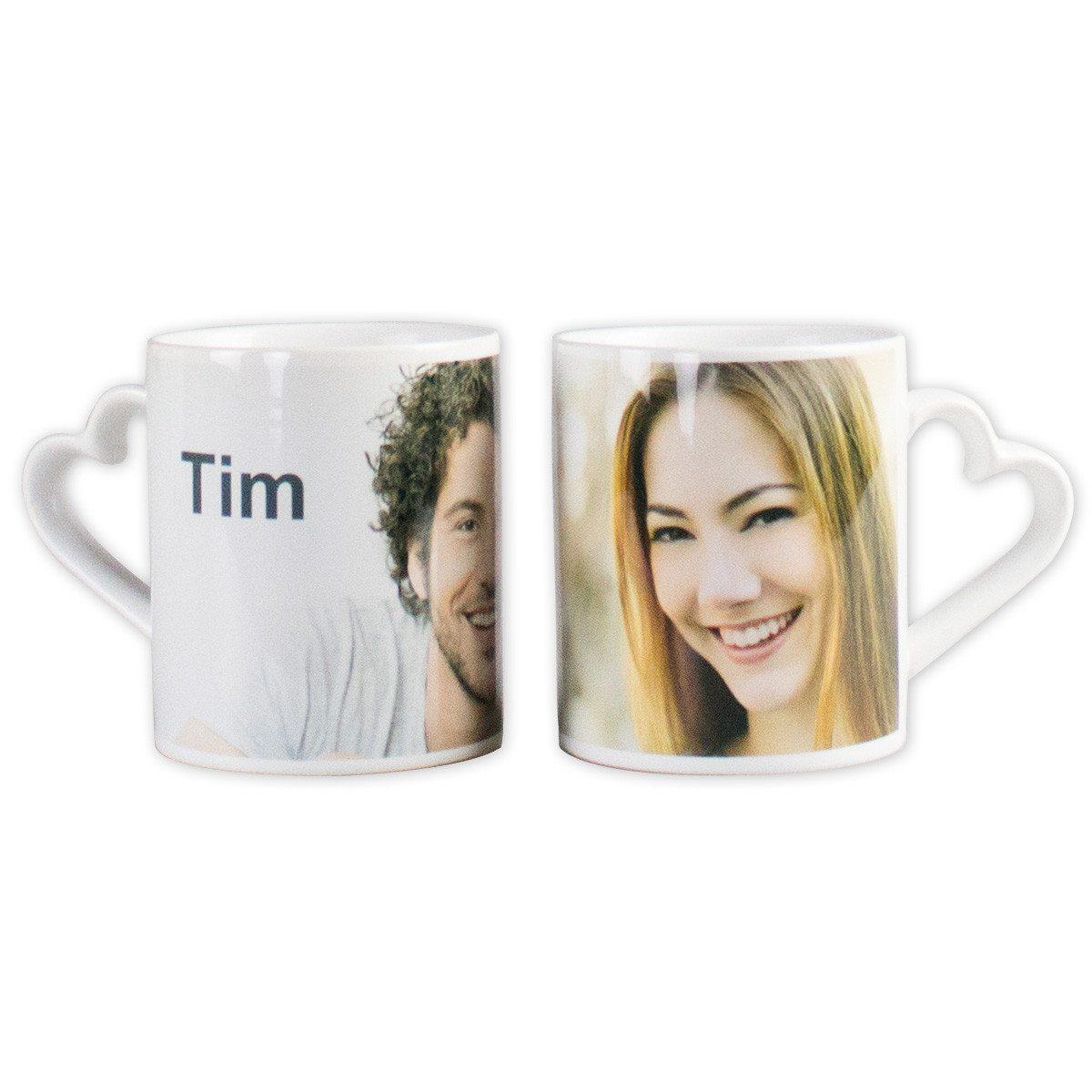 Romantiske kaffekopper med billeder