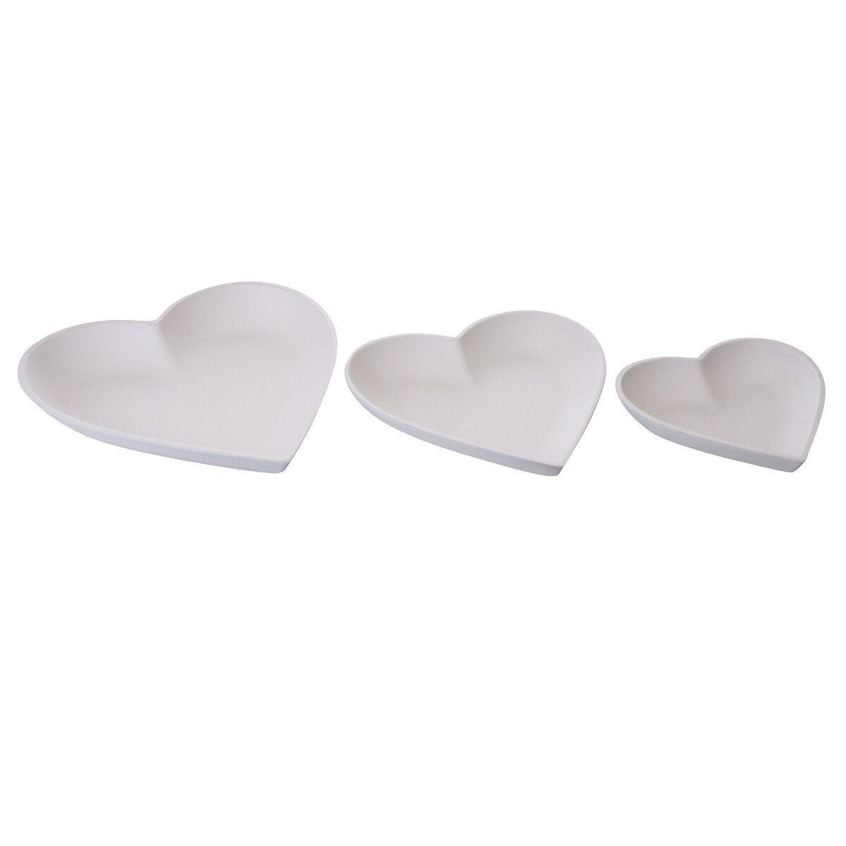 Sæt med hjerteformede skåle
