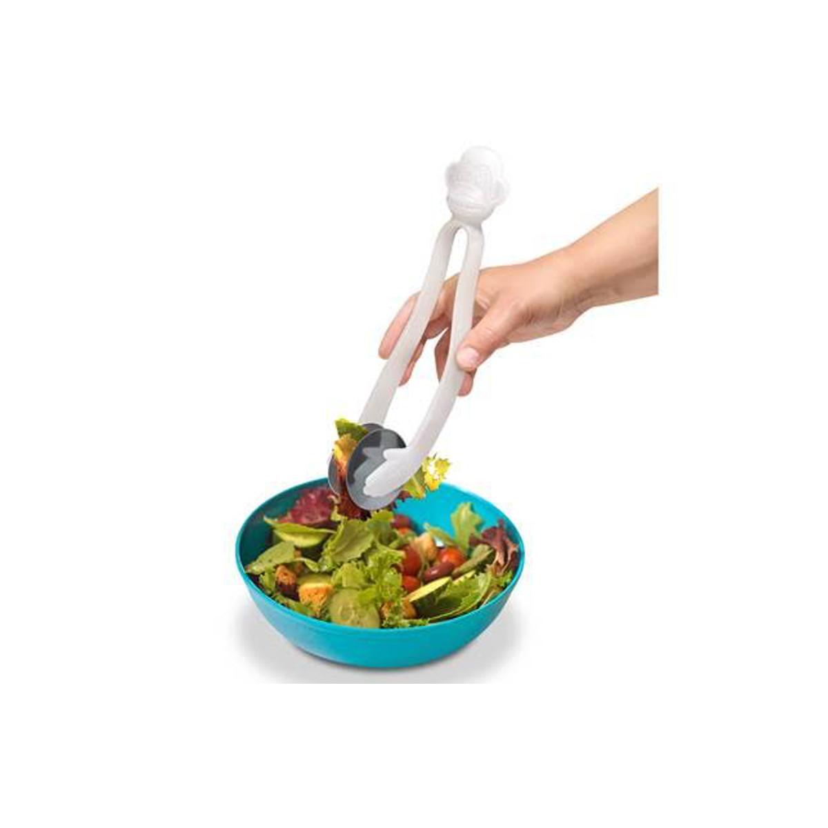 Salatbestik formet som en abe
