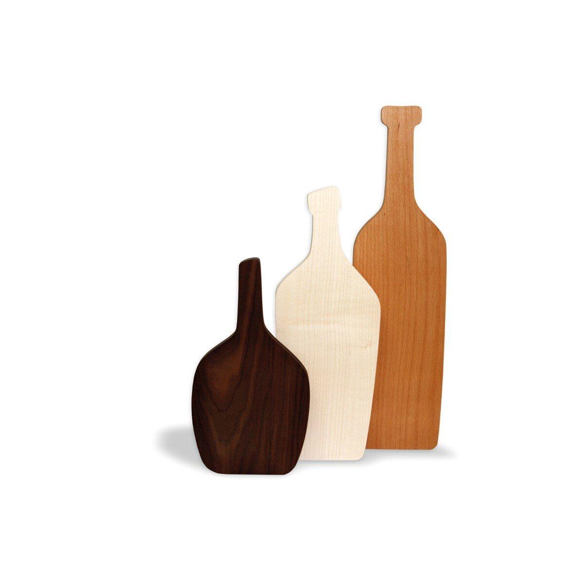 Serveringsbræt-sæt formet som vinflasker