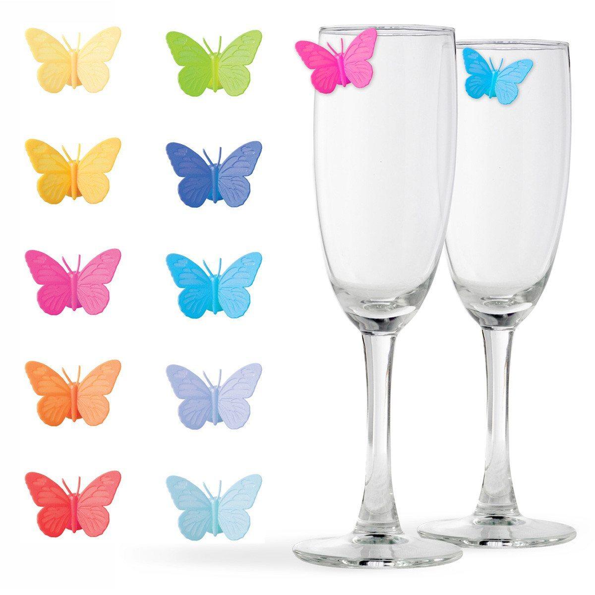Sommerfugleformede glasmarkører