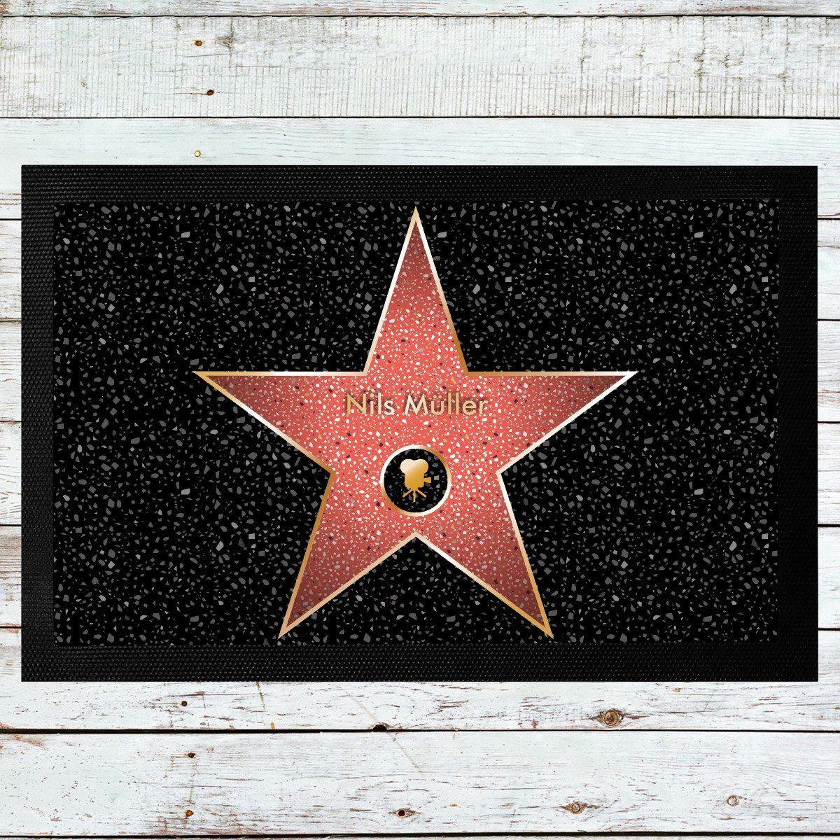 Star of Fame-dørmåtte med navn