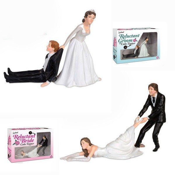 Tøvende bryllupskagefigurer