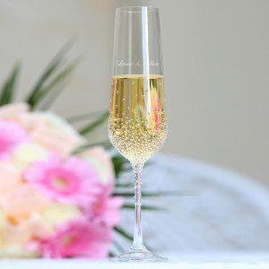 2 stk. champagneglas med Swarovskikrystaller med eller uden indgravering