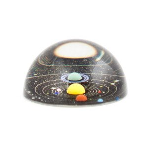 3D brevvægt med solsystemet