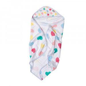 Badehåndkæde med hætte til babyer