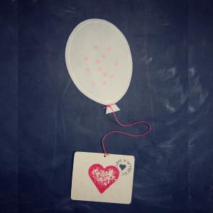 Ballonbrev med konfetti