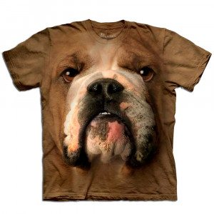Big Face T-shirt med bulldogtryk