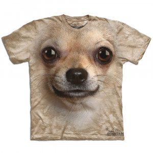 Big Face T-shirt med chihuahuatryk