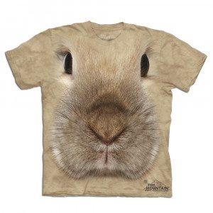 Big Face T-shirt med haretryk