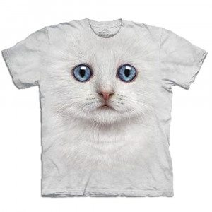 Big Face T-shirt med kattetryk