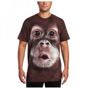 Big Face T-shirt med orangutangtryk