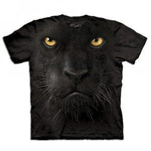 Big Face T-shirt med pantertryk