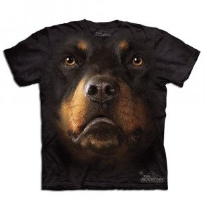 Big Face T-shirt med rottweilertryk