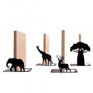 Bogstøtte inspireret af savannen