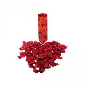 Bordbombe med rosenblade