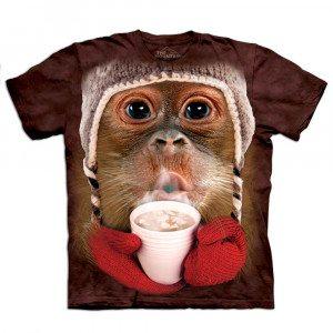 Børne t-shirt med orangutangmotiv