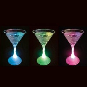 Cocktailglas med LED-lys