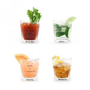 Cocktailglas med opskrifter
