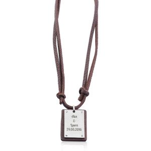 PERSONALIZED LEATHER DOG TAG