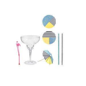 Drinksæt med glas og pynt