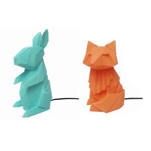 Dyre-lamper i origami-design