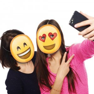 Emoticon-Partymasken varianten
